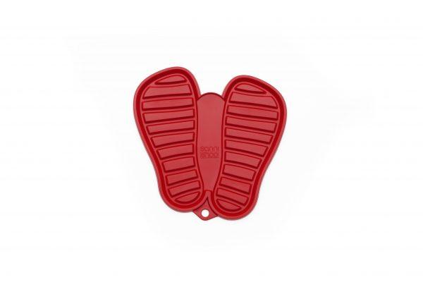 shoo.pad S red - Abtropfmatte für Schuhe