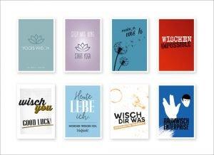 design mikrofastertücher die aussehen wie glückwunschkarten by sanni shop